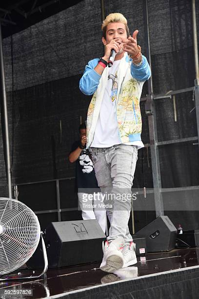 Daniele Negroni performs at the Kinderhospiz Charity Open Air at Helvetiaparc on August 20 2016 in GrossGerau Germany