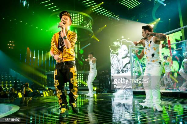 Daniele Negroni performs during the 'Deutschland Sucht Den Superstar' Semifinal Rehearsal at Coloneum on April 21 2012 in Cologne Germany