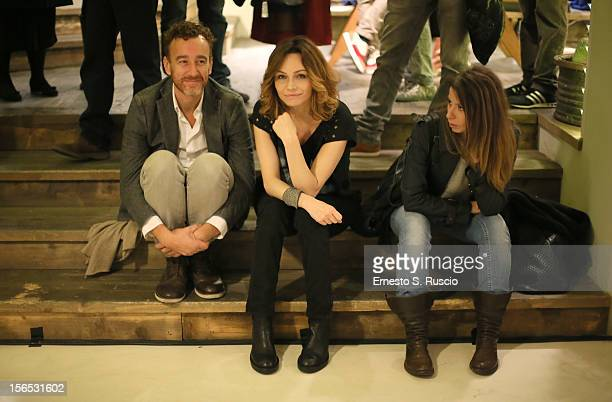 Daniele Orazi and Francesca Neri attend the Officinelab Presentation during the 7th Rome Film Festival at the Auditorium Parco Della Musica on...