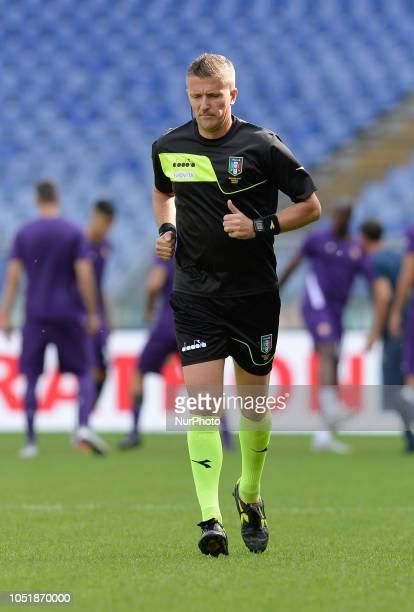 Daniele Orsato during the Italian Serie A football match between SS Lazio and Fiorentina at the Olympic Stadium in Rome on october 07 2018