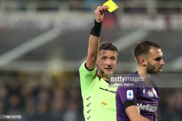Daniele Orsato referee during the Serie A match between ACF Fiorentina and Genoa CFC at Stadio Artemio Franchi on January 25, 2020 in Florence, Italy.