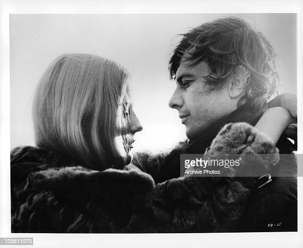 Daniele Ouimet and John Karlen embrace in a scene from the film 'Daughters Of Darkness' 1971