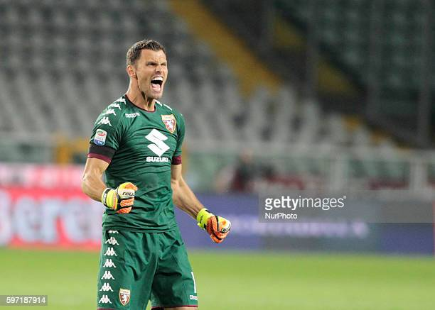 Daniele Padelli during Serie A match between Torino v Bologna in Turin on August 28 2016