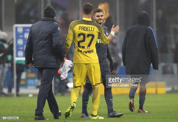 Daniele Padelli of FC Internazionale celebrate victory over Pordenone in a penalty shoot out during the TIM Cup match between FC Internazionale and...