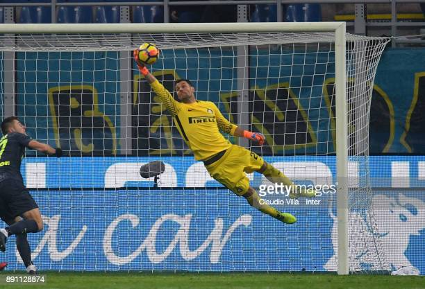 Daniele Padelli of FC Internazionale in action during the TIM Cup match between FC Internazionale and Pordenone at Stadio Giuseppe Meazza on December...