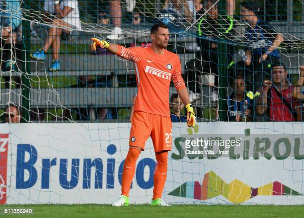 Daniele Padelli of FC Internazionale reacts during the Preseason Friendly match between FC Internazionale and Wattens on July 9 2017 in Reischach...