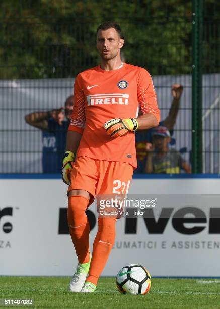 Daniele Padelli of FC Internazionale reatcs during the Preseason Friendly match between FC Internazionale and Wattens on July 9 2017 in Reischach...