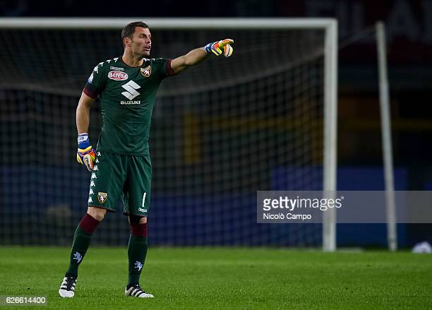 Daniele Padelli of Torino FC gestures during the TIM Cup football match between Torino FC and AC Pisa Torino FC wins 40 over AC Pisa