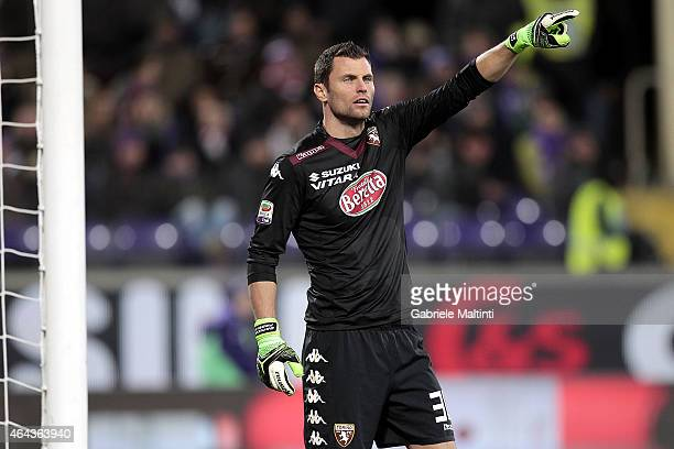 Daniele Padelli of Torino FC in action during the Serie A match between ACF Fiorentina and Torino FC at Stadio Artemio Franchi on February 22 2015 in...