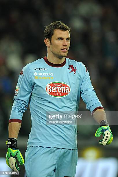 Daniele Padelli of Torino FC looks on during the Serie A match between Juventus and Torino FC at Juventus Arena on February 23 2014 in Turin Italy