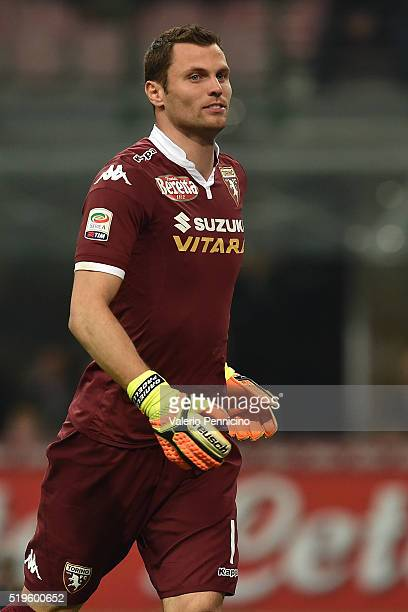 Daniele Padelli of Torino FC looks on during the Serie A match between FC Internazionale and Torino FC Milano at Stadio Giuseppe Meazza on April 3...