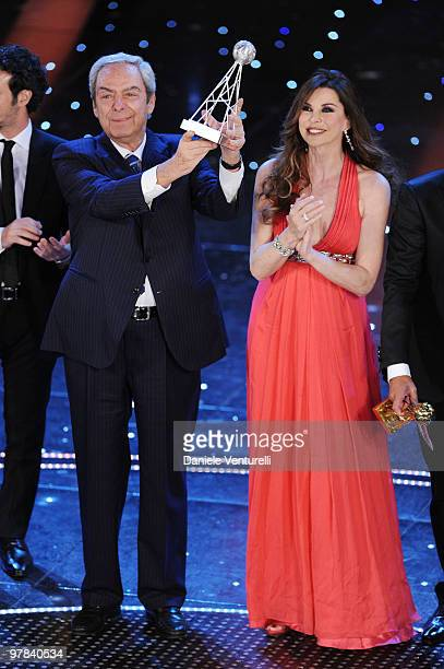 Daniele Piombi and Alba Parietti attend the ''Premio TV 2010'' Ceremony held at Teatro Ariston on March 18 2010 in San Remo Italy