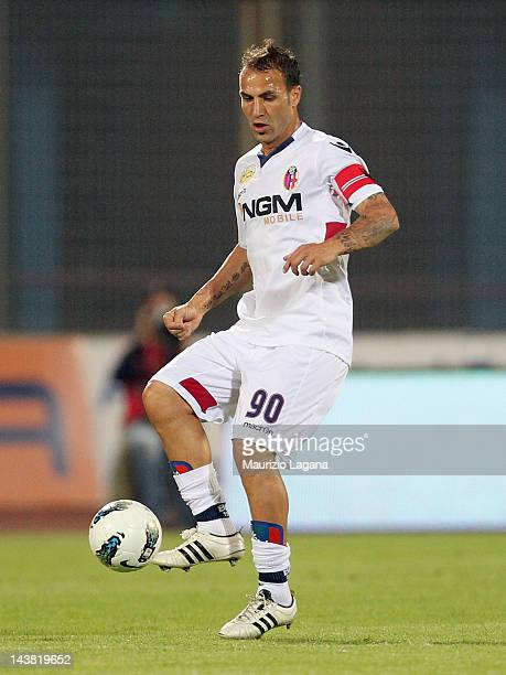 Daniele Portanova of Bologna during the Serie A match between Catania Calcio and Bologna FC at Stadio Angelo Massimino on May 2 2012 in Catania Italy
