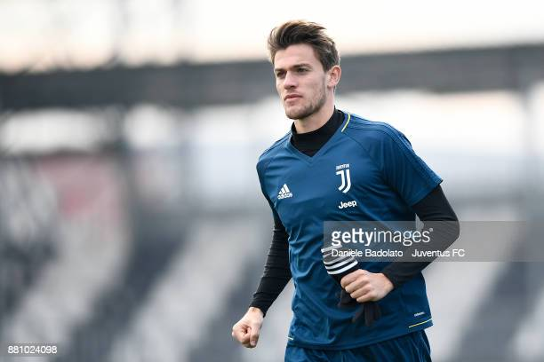 Daniele Rugani during a Juventus training session at Juventus Center Vinovo on November 28 2017 in Vinovo Italy