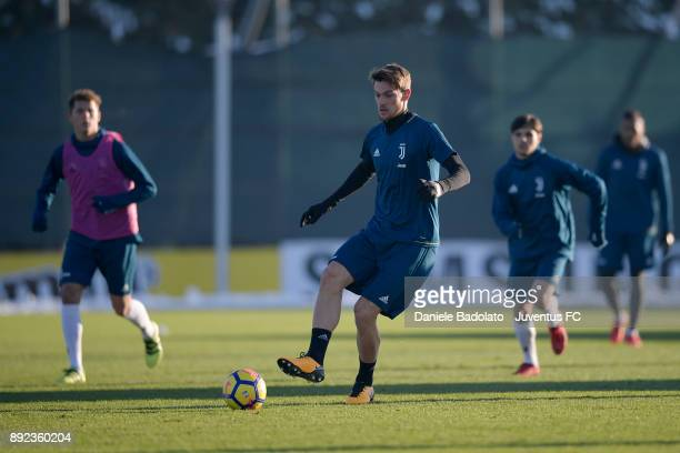 Daniele Rugani during a Juventus Training Session at Juventus Center Vinovo on December 14 2017 in Vinovo Italy