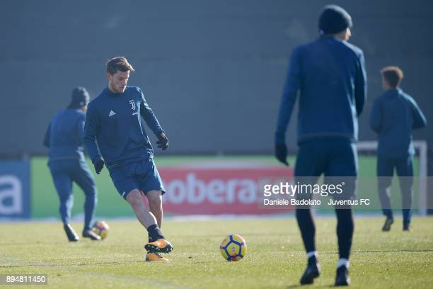 Daniele Rugani during a Juventus Training Session at Juventus Center Vinovo on December 18 2017 in Vinovo Italy