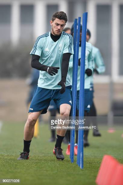 Daniele Rugani during a Juventus Training Session at Juventus Center Vinovo on January 1 2018 in Vinovo Italy