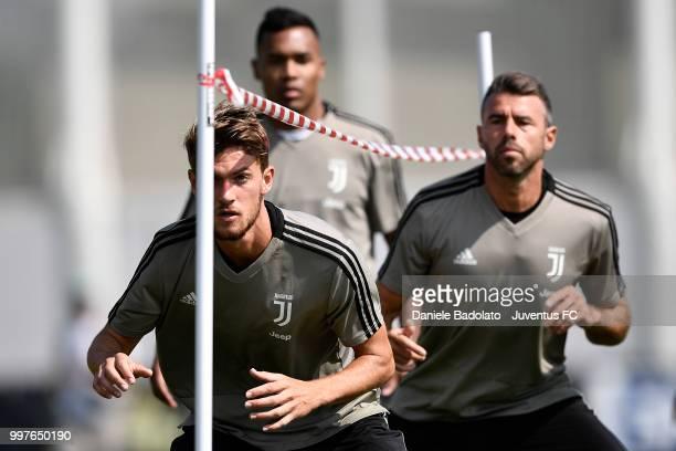 Daniele Rugani during a Juventus training session at Juventus Training Center on July 13 2018 in Turin Italy