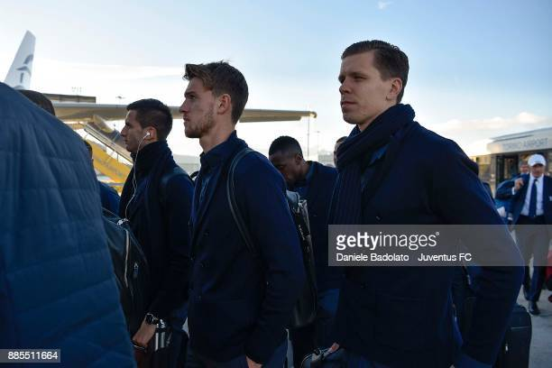 Daniele Rugani during a Juventus Travel to Athens ahead of the UEFA chanpions League match versus Olimpiacos at on December 4 2017 in Turin Italy
