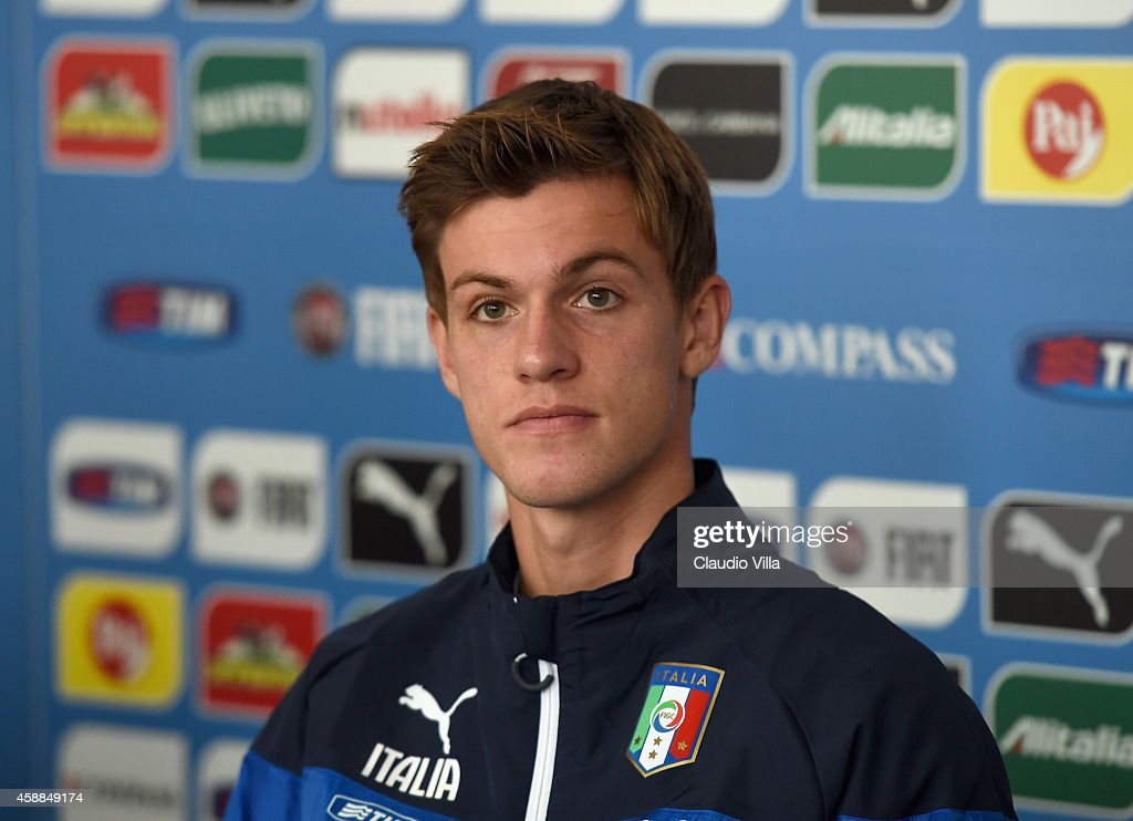 Daniele Rugani during Italy Press Conference at Coverciano on November 12, 2014 in Florence, Italy.