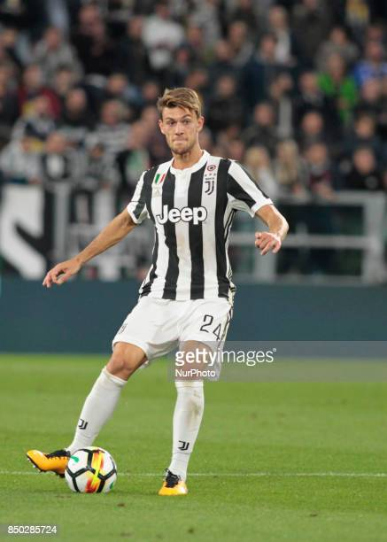 Daniele Rugani during Serie A match between Juventus v Fiorentina in Turin on September 20 2017