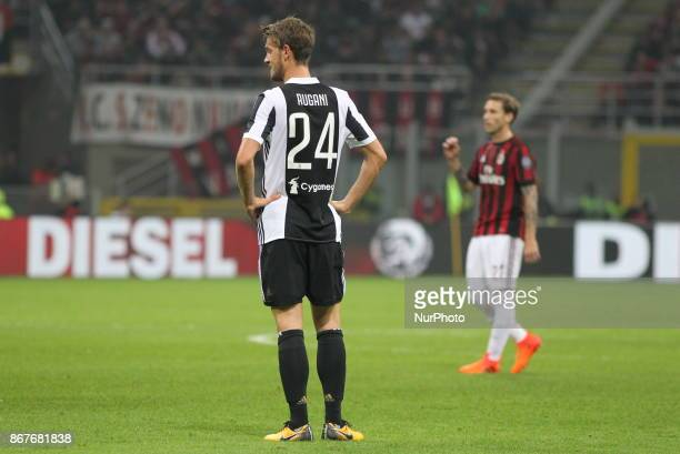 Daniele Rugani during the Serie A football match between AC Milan and Juventus FC on 28 October 2017 at Giuseppe Meazza stadium in Milan Italy