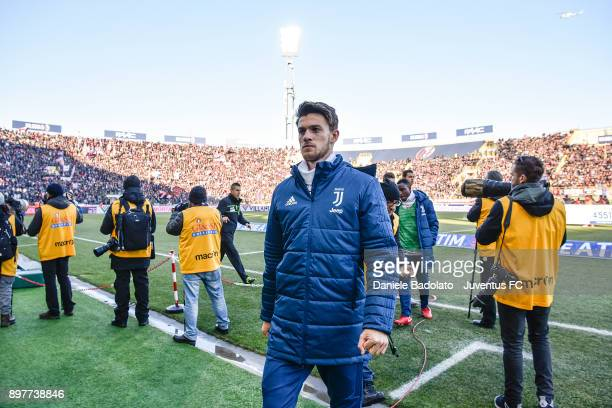 Daniele Rugani during the Serie A match between Bologna FC and Juventus at Stadio Renato Dall'Ara on December 17 2017 in Bologna Italy