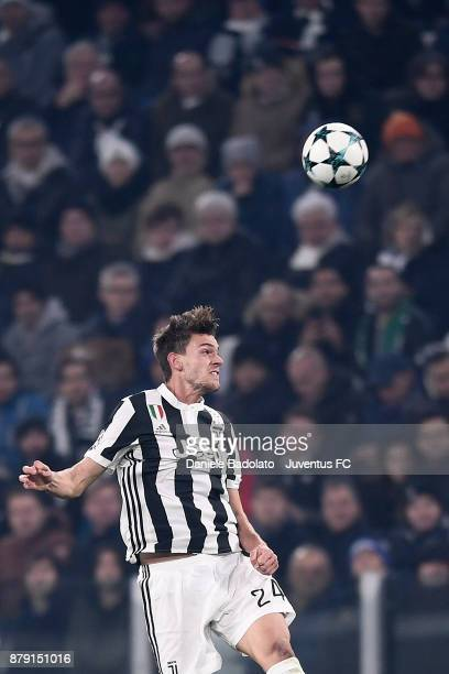 Daniele Rugani during the UEFA Champions League group D match between Juventus and FC Barcelona at Allianz Stadium on November 22 2017 in Turin Italy