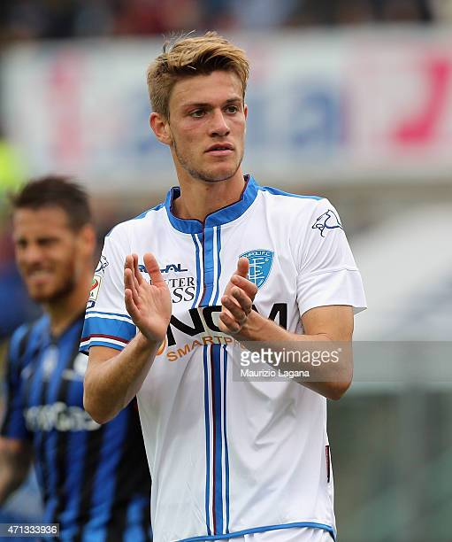 Daniele Rugani of Empoli during the Serie A match between Atalanta BC and Empoli FC at Stadio Atleti Azzurri d'Italia on April 26 2015 in Bergamo...