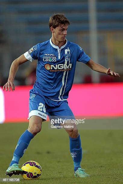 Daniele Rugani of Empoli FC in action during the Serie A match between Empoli FC and Hellas Verona FC at Stadio Carlo Castellani on January 6 2015 in...