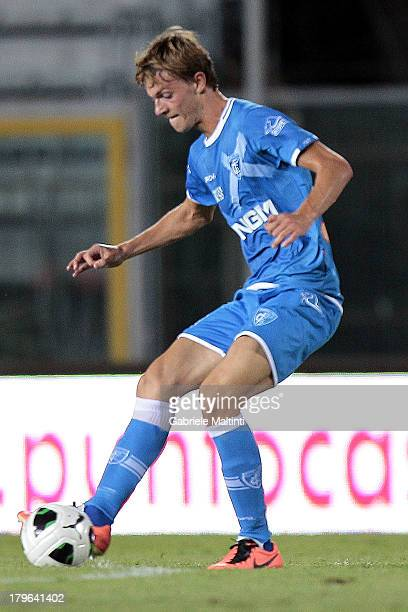 Daniele Rugani of Empoli FC in action during the Serie B match between Empoli FC and US Latina Calcio at Stadio Carlo Castellani on August 24 2013 in...