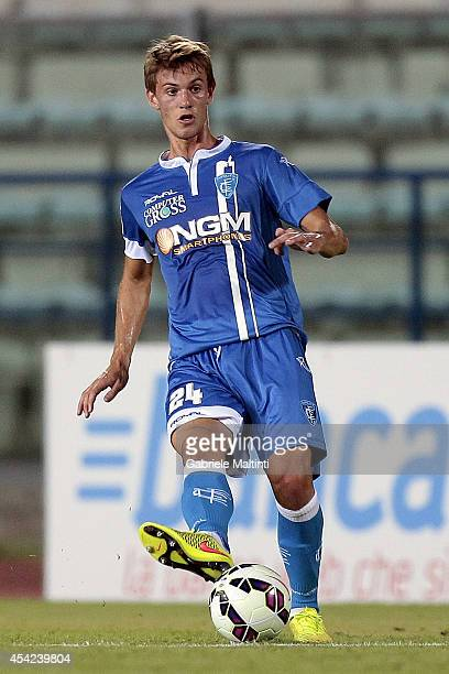 Daniele Rugani of Empoli FC in action during the TIM Cup match between Empoli FC and L'Aquila Calcio at Stadio Carlo Castellani on August 24 2014 in...