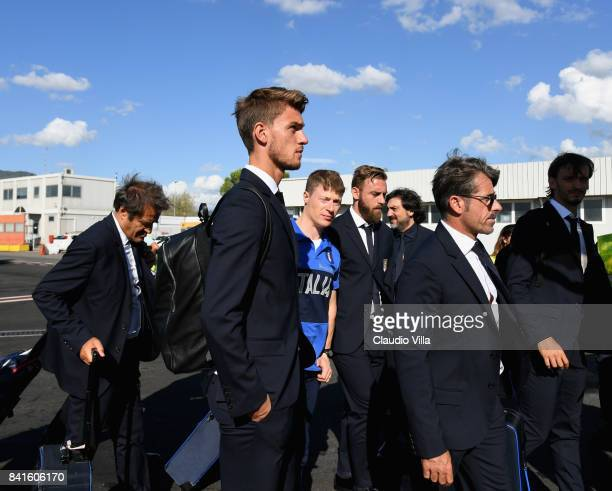 Daniele Rugani of Italy departs to Madrid on September 1 2017 in Florence Italy