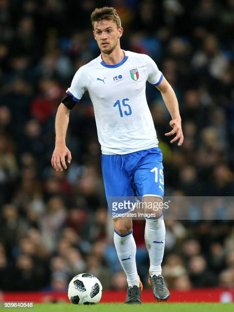 Daniele Rugani of Italy during the International Friendly match between Italy v Argentina at the Etihad Stadium on March 23 2018 in Manchester United...