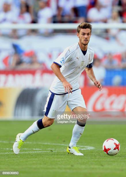 Daniele Rugani of Italy during the UEFA European Under21 Championship Group C match between Czech Republic and Italy at Tychy Stadium on June 21 2017...