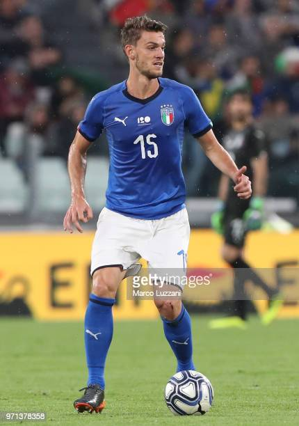 Daniele Rugani of Italy in action during the International Friendly match between Italy and Netherlands at Allianz Stadium on June 4 2018 in Turin...