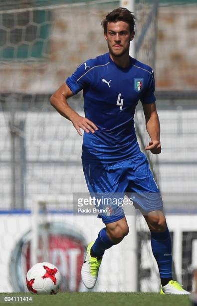 Daniele Rugani of Italy in action during the Italy U21 training session at Fulvio Bernardini sport center on June 9 2017 in Rome Italy