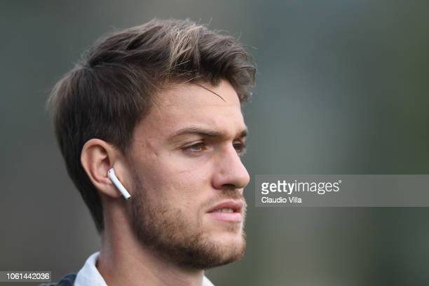 Daniele Rugani of Italy looks on before training session at Centro Tecnico Federale di Coverciano on November 14 2018 in Florence Italy