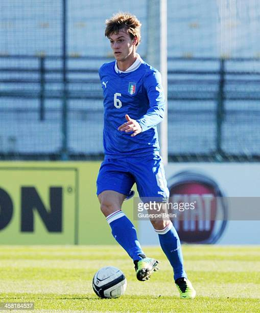 Daniele Rugani of Italy U21 in action during the match betwen Italy U21 v B Italia at Stadio Partenio on December 17 2013 in Avellino Italy