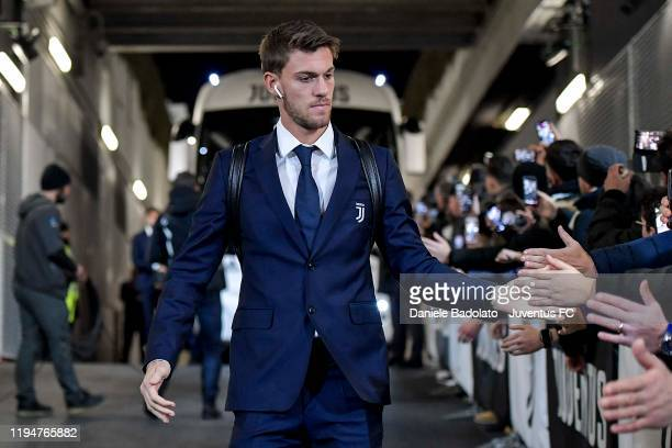 Daniele Rugani of Juventus arrives at the stadium before the Serie A match between Juventus and Parma Calcio on January 19 2020 in Turin Italy