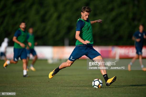 Daniele Rugani of Juventus during a training session on August 7 2017 in Vinovo Italy