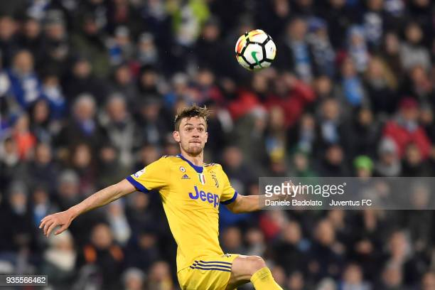 Daniele Rugani of Juventus during the serie A match between Spal and Juventus at Stadio Paolo Mazza on March 17 2018 in Ferrara Italy