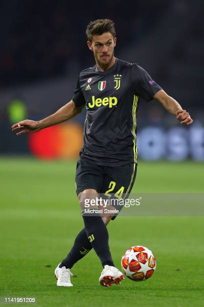 Daniele Rugani of Juventus during the UEFA Champions League Quarter Final first leg match between Ajax and Juventus at Johan Cruyff Arena on April 10...
