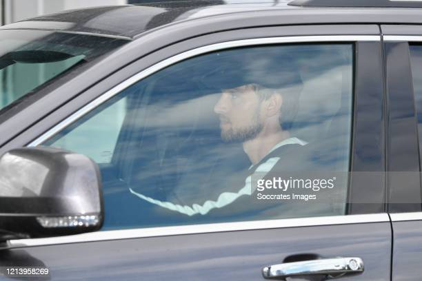 Daniele Rugani of Juventus FC arrive in his car to resume training after a quarantine on May 19 2020 at the club's Continassa training ground in...