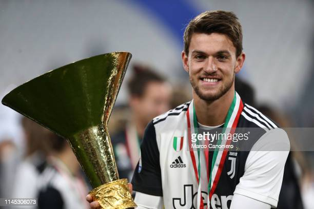 Daniele Rugani of Juventus FC celebrate the victory of Italian Serie A after the Serie A football match between Juventus Fc and Atalanta Bergamasca...