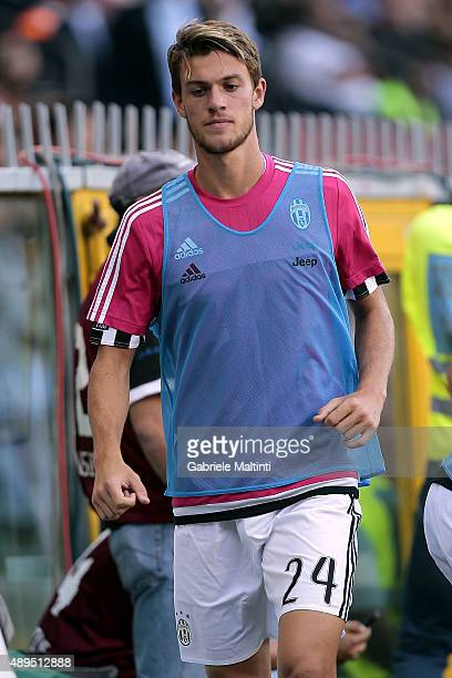 Daniele Rugani of Juventus FC during the Serie A match between Genoa CFC and Juventus FC at Stadio Luigi Ferraris on September 20 2015 in Genoa Italy