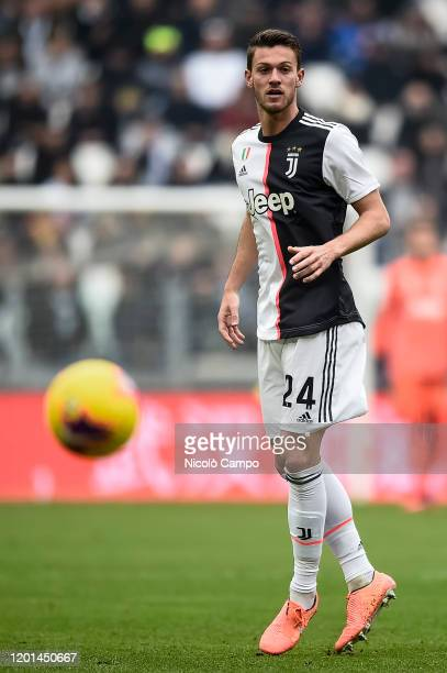 Daniele Rugani of Juventus FC eyes the ball during the Serie A football match between Juventus FC and Brescia Calcio Juventus FC won 20 over Brescia...