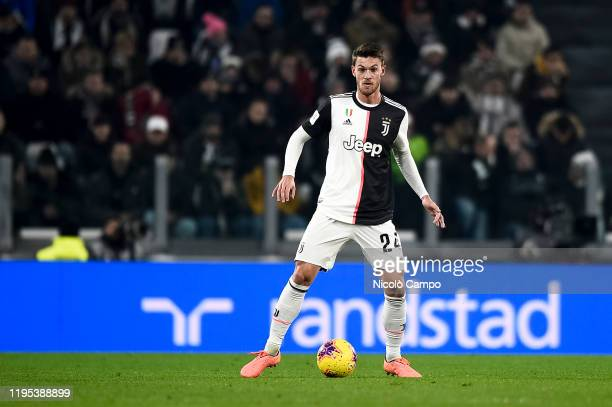 Daniele Rugani of Juventus FC in action during the Coppa Italia football match between Juventus FC and AS Roma Juventus FC won 31 over AS Roma