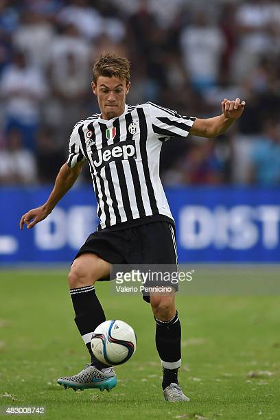 Daniele Rugani of Juventus FC in action during the preseason friendly match between Olympique de Marseille and Juventus FC at Stade Velodrome on...
