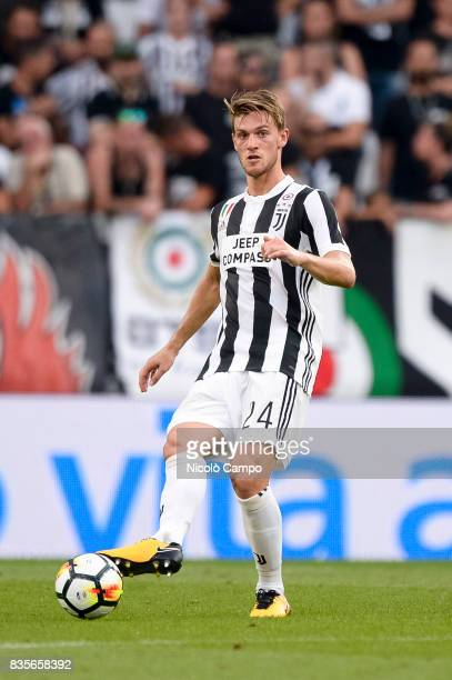 Daniele Rugani of Juventus FC in action during the Serie A football match between Juventus FC and Cagliari Calcio Juventus FC wins 30 over Cagliari...